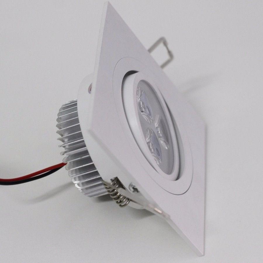 Kit 20 Spot Led de Embutir Quadrado 3W Bivolt 6500K - Luz Branca