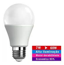 KIT 50 Lâmpadas Led 7w Bulbo Bivolt E27 90% Mais Econômico!