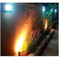 KIT 5 ESPETOS DE LED 5W PARA JARDIM - LUZ BRANCO QUENTE - BIVOLT