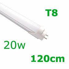KIT 5 LÂMPADAS DE LED T8 TUBULAR VIDRO 20W 120CM BRANCO FRIO 6500K COM SELO INMETRO LEITOSA