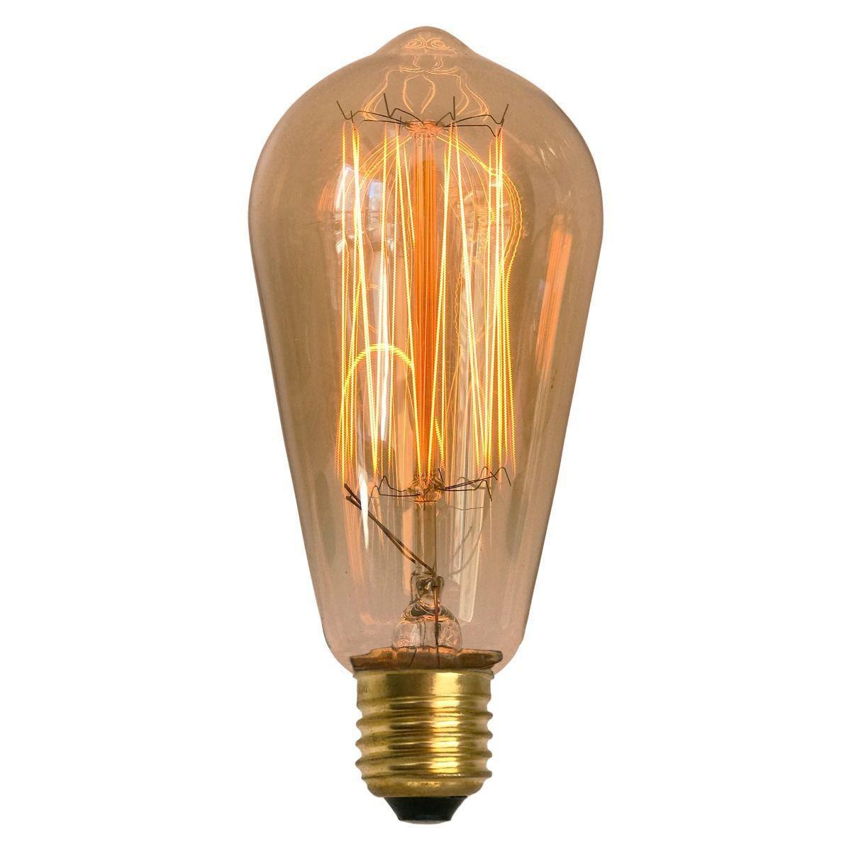 Kit 6 Lâmpadas 4w St58/e27 - Bulbo - Filamento De Carbono