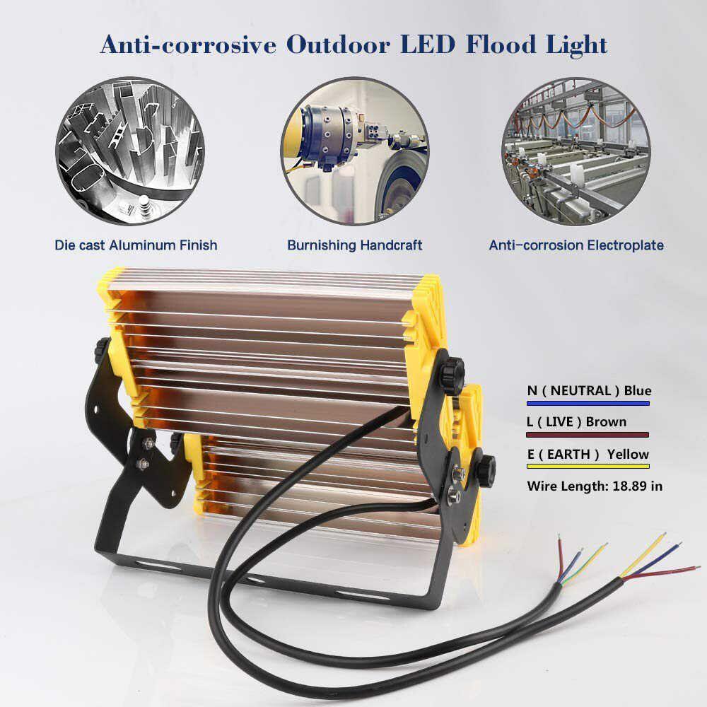 KIT 6 REFLETOR LED MODELO 2019 FLOOD LIGHT (TECNOLOGIA PHILIPS) 200W IP68 DOIS MÓDULOS NUMBER TWO