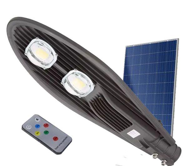kit com 15 luminaria publica solar branco frio 100w