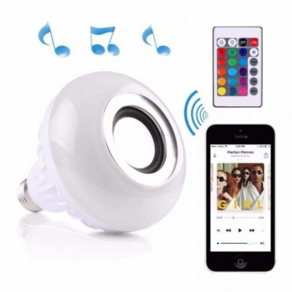 Lâmpada Led Music Bulb Bluetooth Bulbo Rgbw Festa Quarto DJ - Skyhu