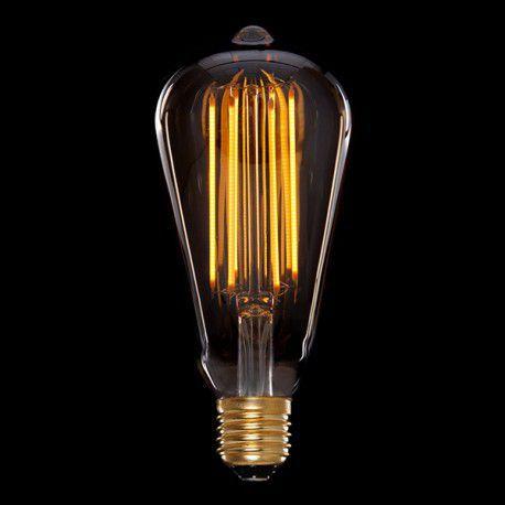 Lâmpada Retrô Vintage ST64 Filamento de Led 4W Bivolt E27