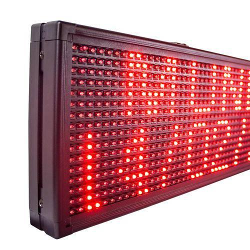 Letreiro Luminoso Painel Led indoor Digital 1m X 20cm Wifi Red