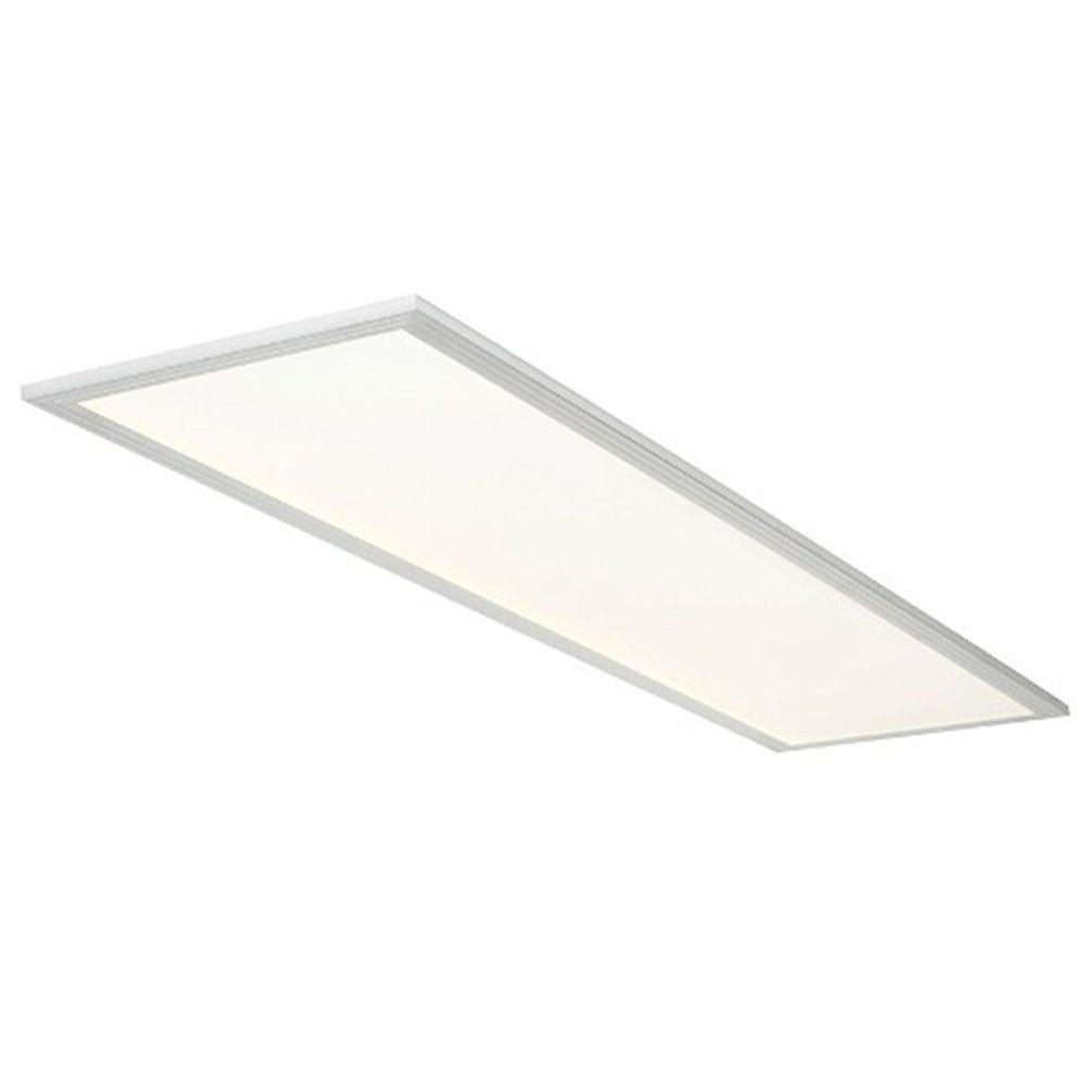 Luminária Plafon 30x120 48w LED Embutir Branco Frio