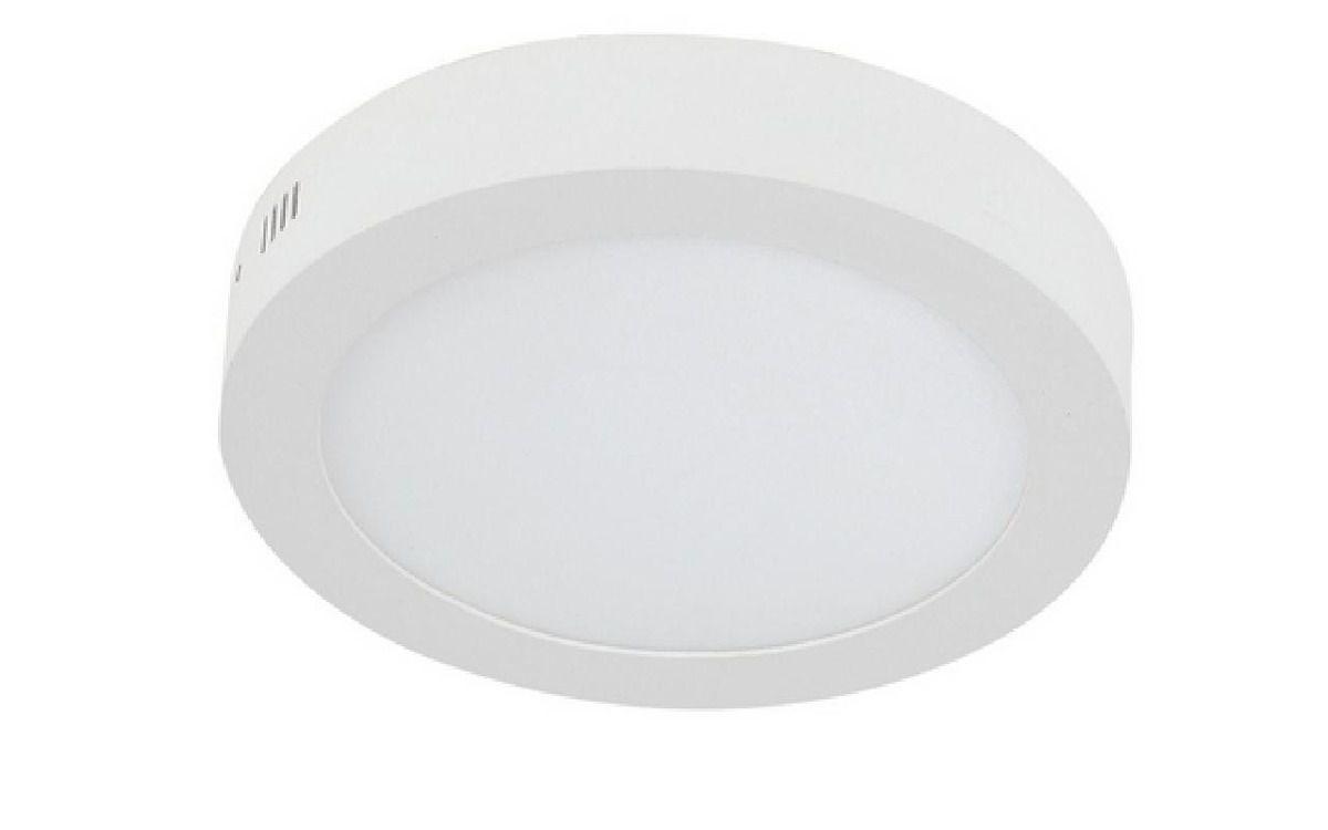 Painel Plafon Led Sobrepor Redondo 24w Luminária - Branco Frio