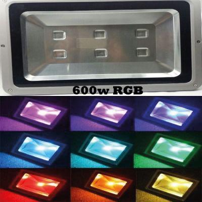Refletor de led 600w 6 leds RGB colorido ip66 resistente a água