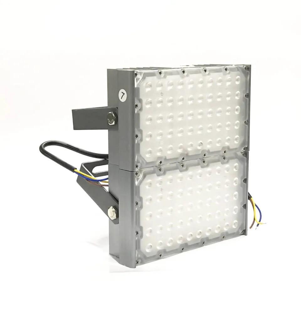 kit 2 REFLETOR LED MODELO 2019 FLOOD LIGHT (TECNOLOGIA PHILIPS) 150W IP68 DOIS MÓDULOS NUMBER TWO