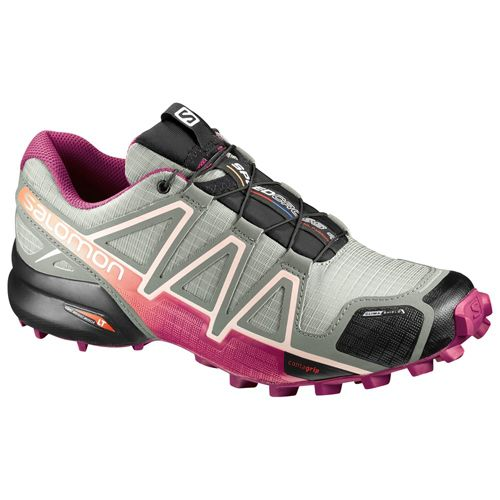 Tênis Salomon Speedcross 4 CS Fem - Cinza/Pink