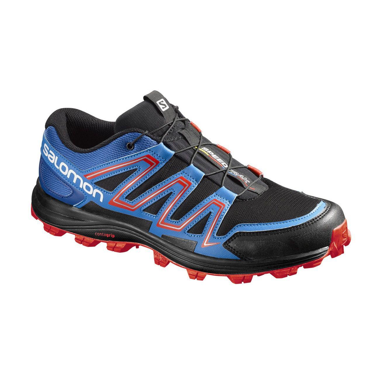 Tênis Salomon Speedtrak Masc - Azul/vermelho
