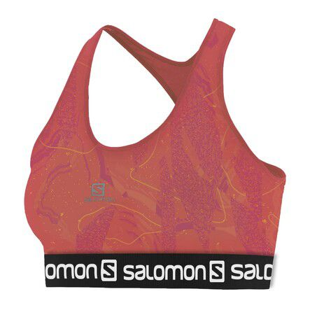 Top Salomon  Impact Graphic Bra II Crystal Nastarium