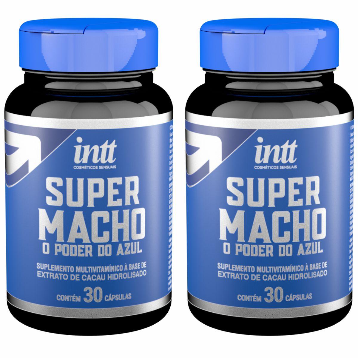 Super Macho Suplemento Potencializador Multivitamínico Masculino 60 Cápsulas Intt