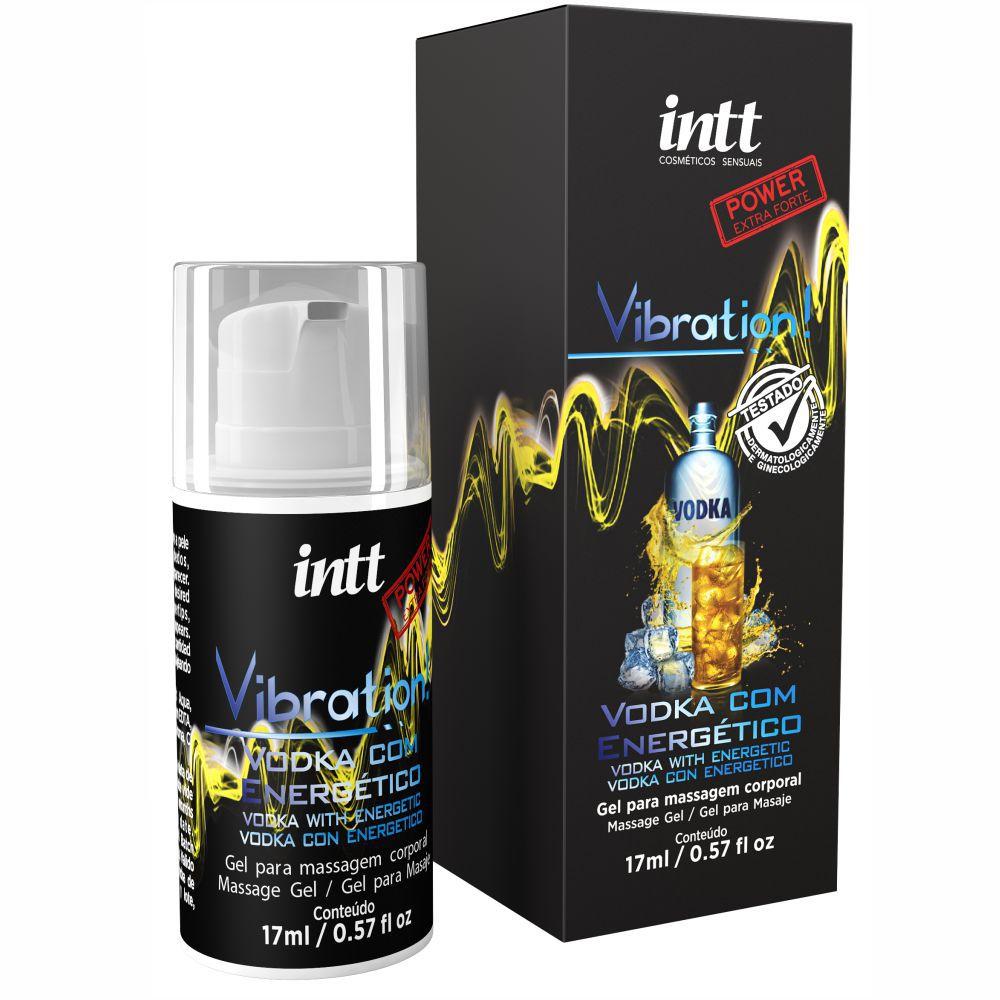 Vibration Gel Excitante que Vibra Extra Forte Vodka com Energético 17 ml - Intt