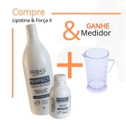 KIT - Lipotina AA & Força X - Progressiva sem formol - Cabelo Liso Natural - Entrega Imediato - GRATIS Medidor.