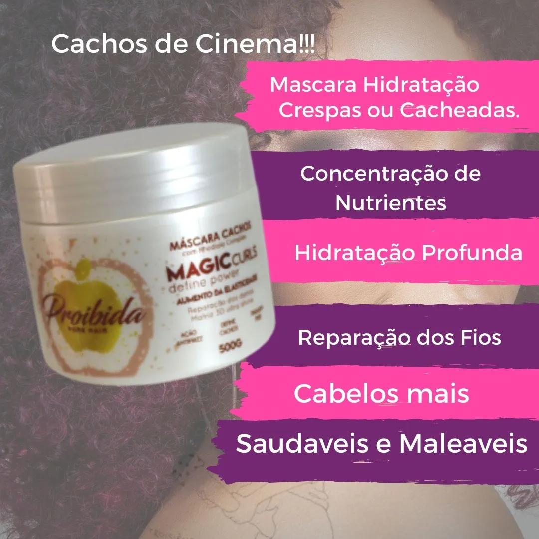 Cachos de Cinema - Máscara para Hidratar Cachos - 500g - Entrega Imediata.