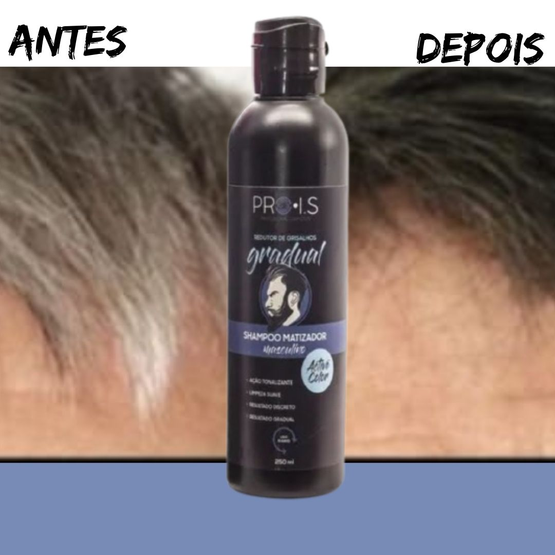 Grisalhos Shampoo Disfarça Cabelos Brancos Gradualmente Active Color 250 ml