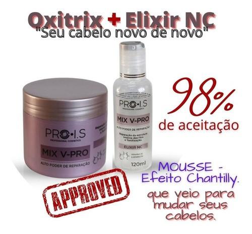 Kit para Recuperação Cabelos Quebradiços  - Bio Sinergy - Oxitrix+ Elixir NC - Entrega Imediata.