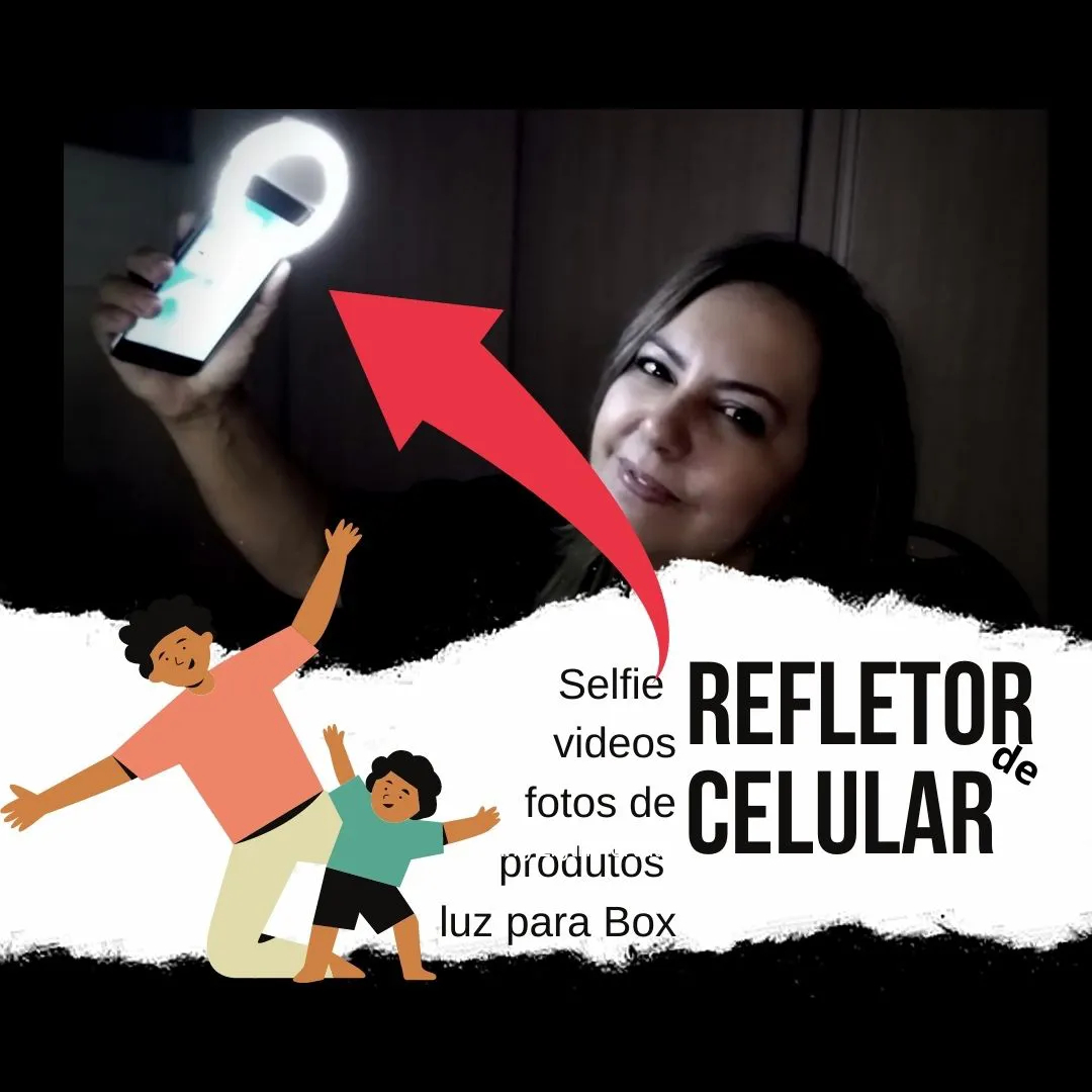 Luz Selfie - Ring Light - Clipe Anel Led Flash Celular Universal