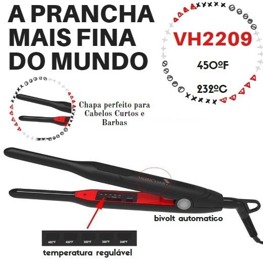 Prancha Profissional Para Fazer A Raiz Dos Cabelo Ultra Fina VH 2209