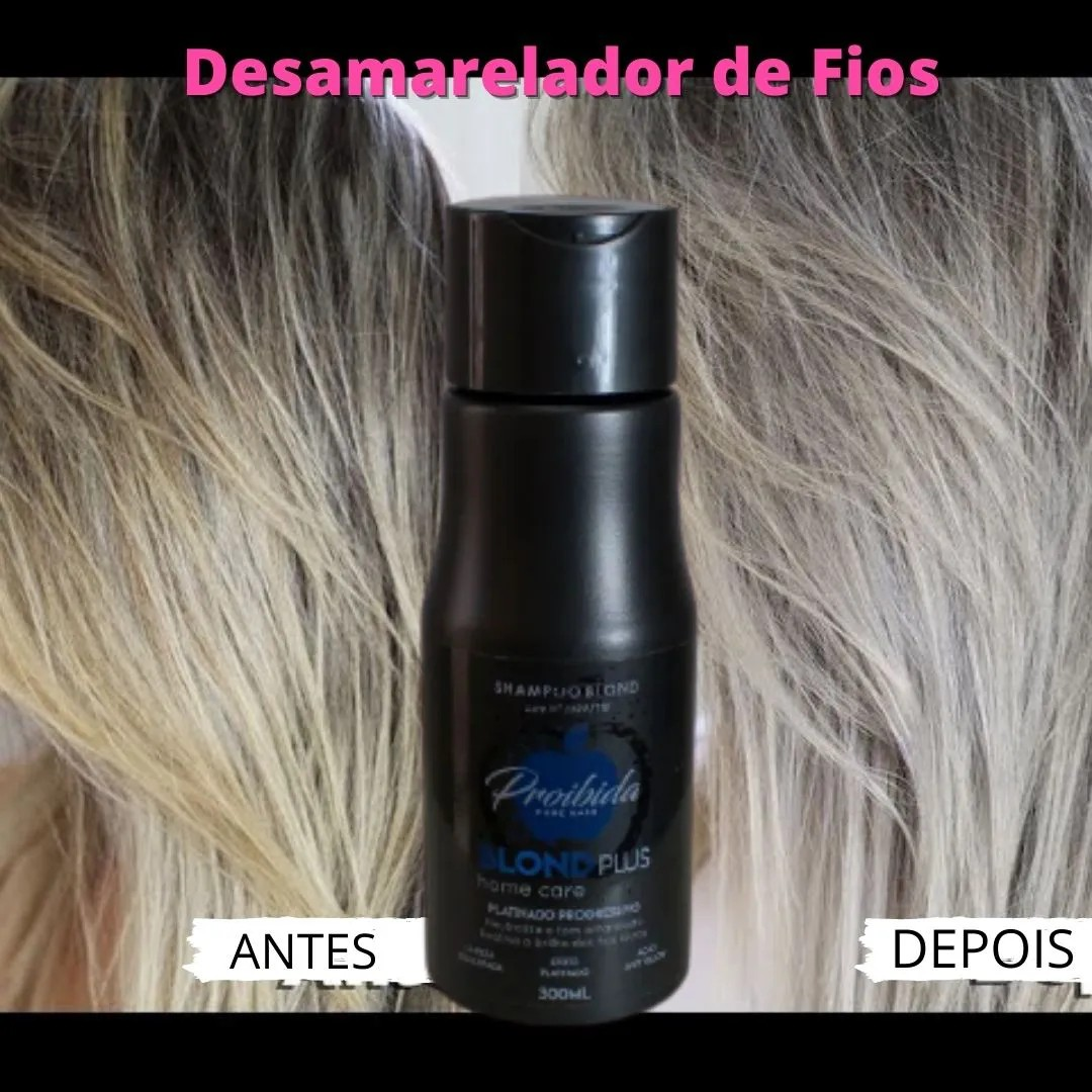 Shampoo Desamarelador- 300ml Blond Plus Home Care- Entrega Imediata.