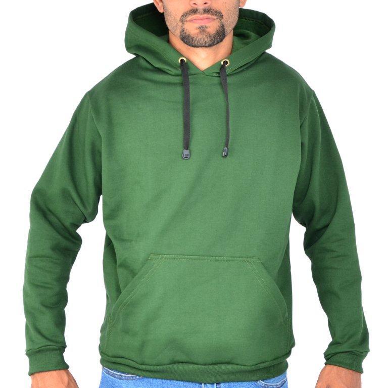 Blusa Moletom Canguru Capuz Liso Verde