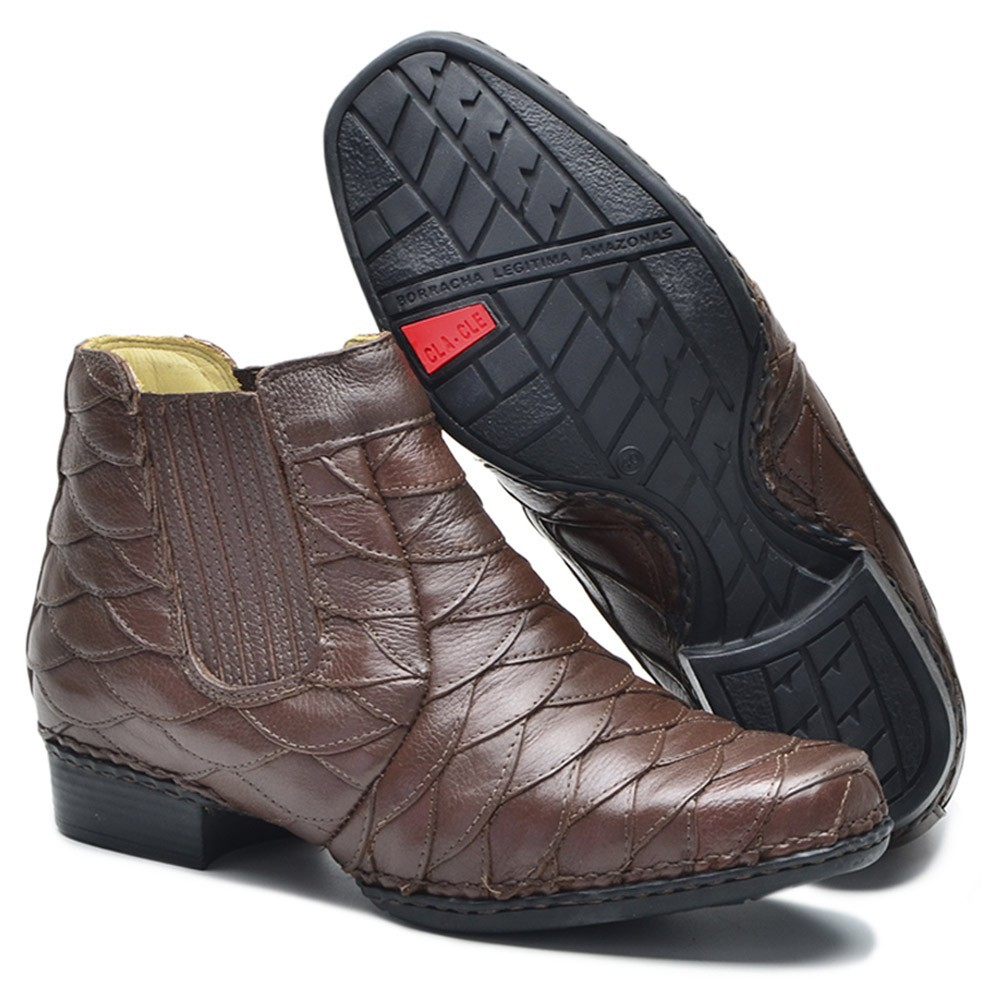 Bota Masculina Escamada Couro Floater  Chocolate