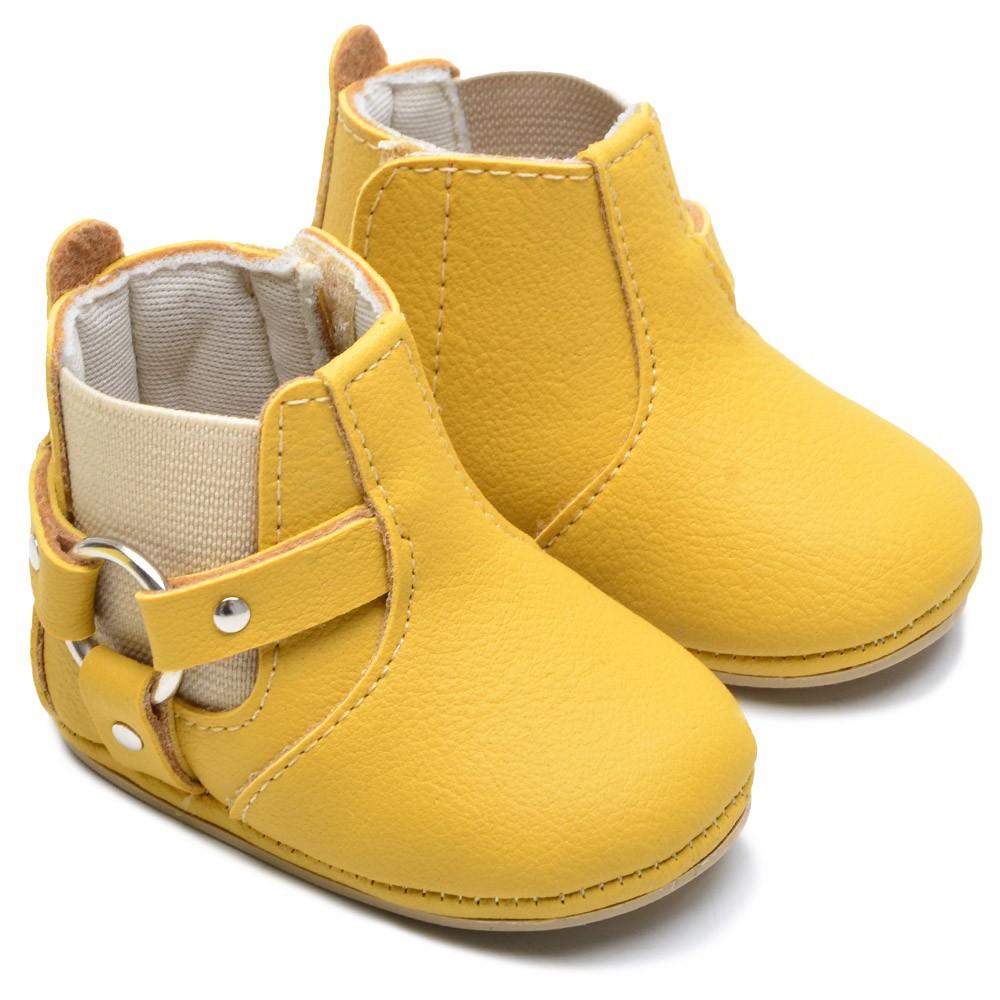 Botinha Bebê Texana Amarelo