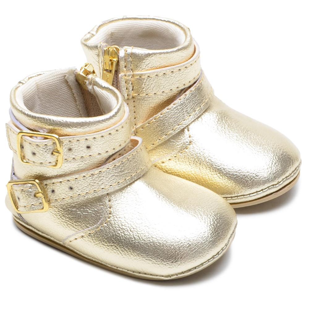 Botinha Bebê Texana Star Dourado