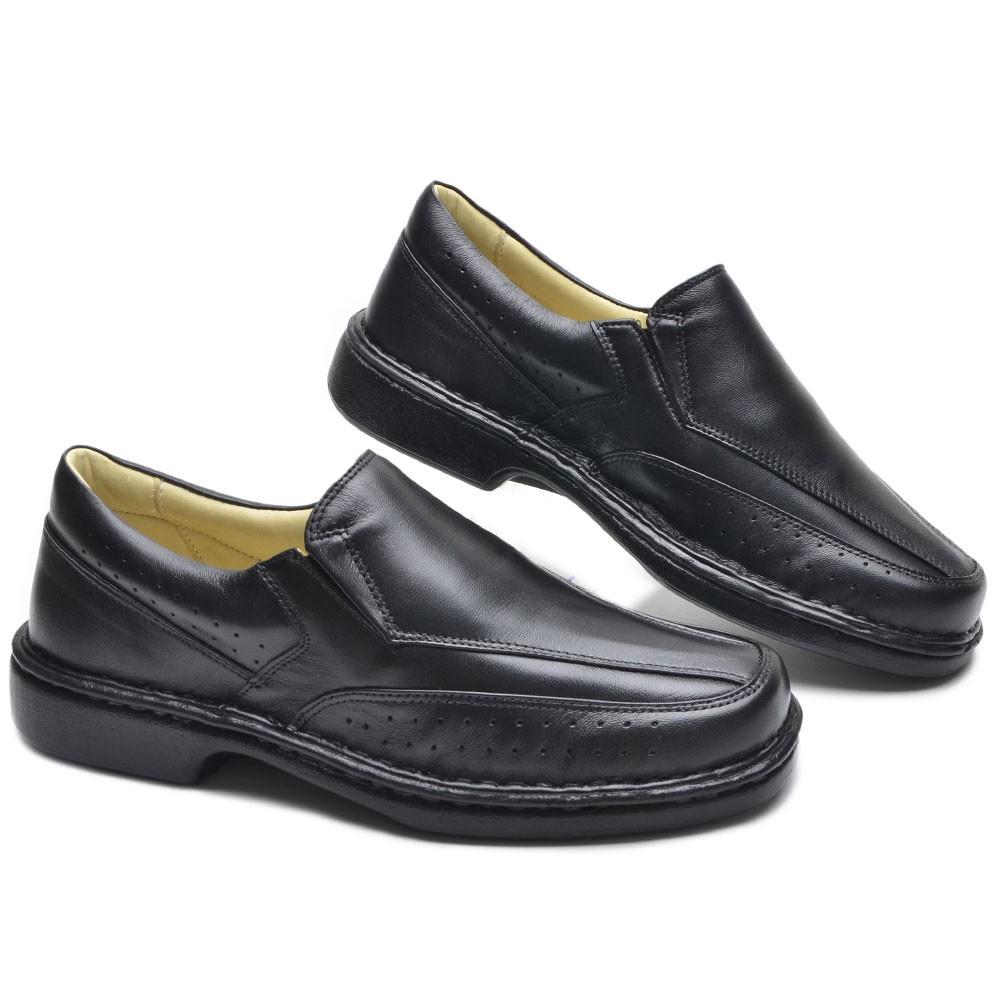 Sapato Masculino Confort Hugo Preto