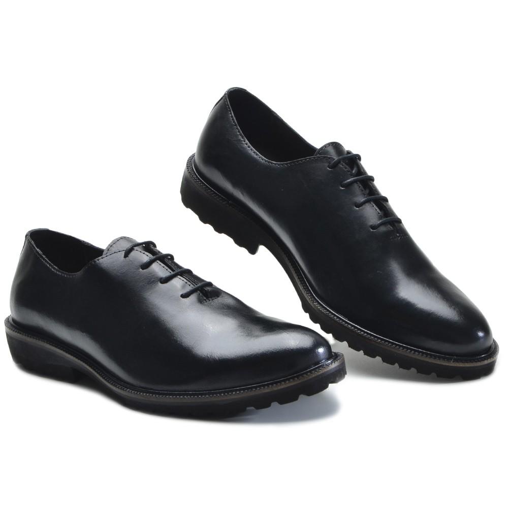 Sapato Masculino Oxford Brogue Wing Blade Preto
