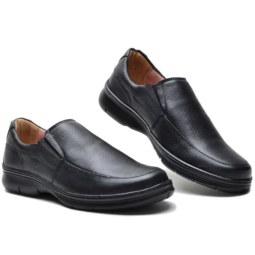 Sapato Social Confort Soft Preto