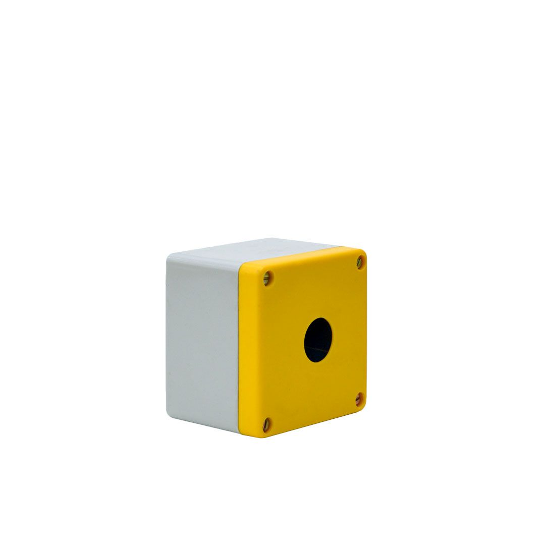 BOTOEIRA PLÁSTICA - MEDIDAS: 80 x 80 x 65mm  - Ø FURO: 23mm - STRAHL 2021