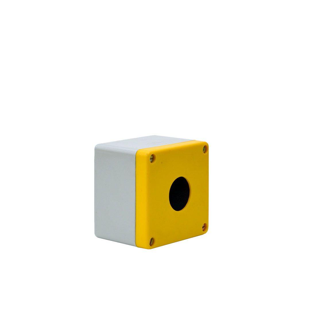 BOTOEIRA PLÁSTICA - MEDIDAS: 80 x 80 x 65mm - Ø FURO: 31mm - STRAHL 2031