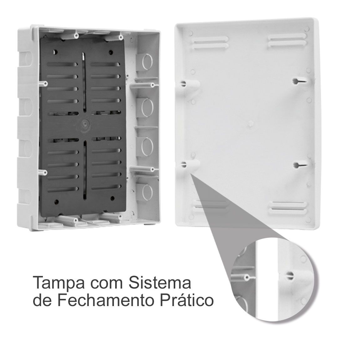 CAIXA DE EMBUTIR PARA SISTEMAS VDI - 305 x 204 x 90mm - STRAHL 8017/VDI
