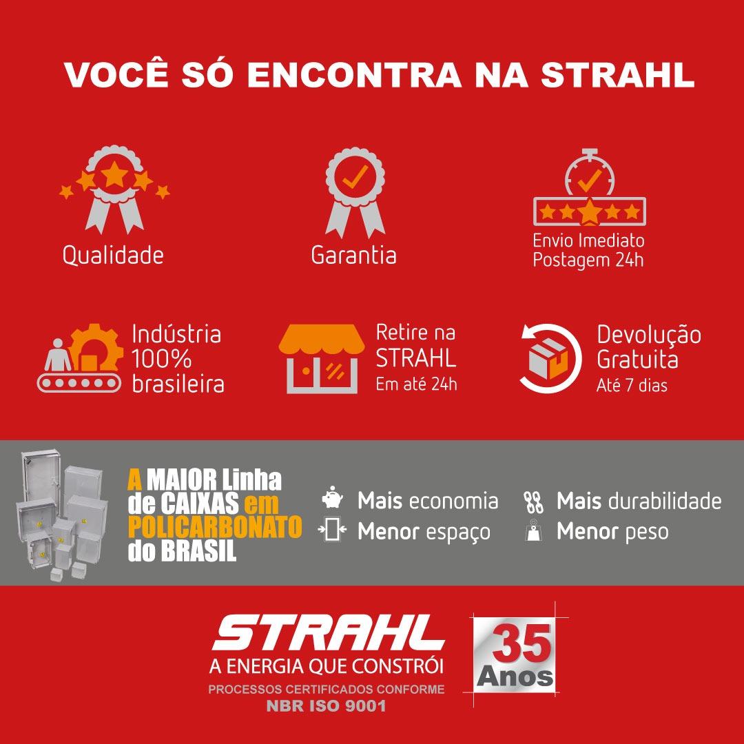 CAIXA PARA MEDIDOR POLIFASICO COM BARRAMENTOS PARA DERIVAÇÃO - STRAHL - 3062/CB