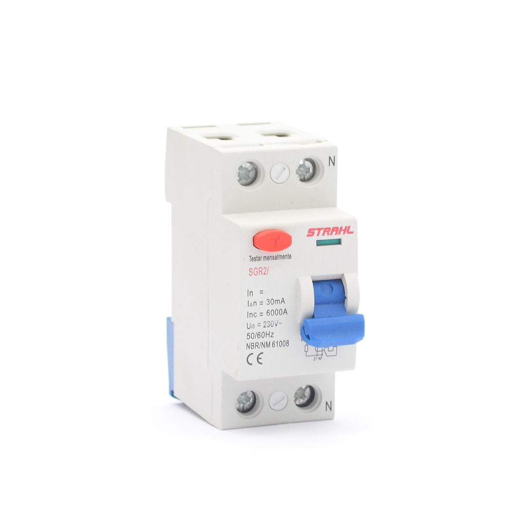 INTERRUPTOR DIFERENCIAL RESIDUAL - DR 2P 25A 30mA - STRAHL
