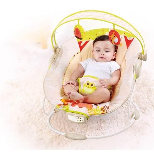 Cadeira Descanso Reclinável Vibratória Musical Até 11kg  - Encanto Baby