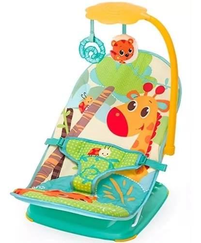 Cadeira De Descanso Colorida Girafa Com Móbile  - Encanto Baby