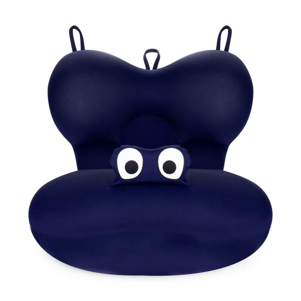 Almofada De Banho Fit Para Banho Do Bebê Baby Pil Azul Marinho  - Encanto Baby