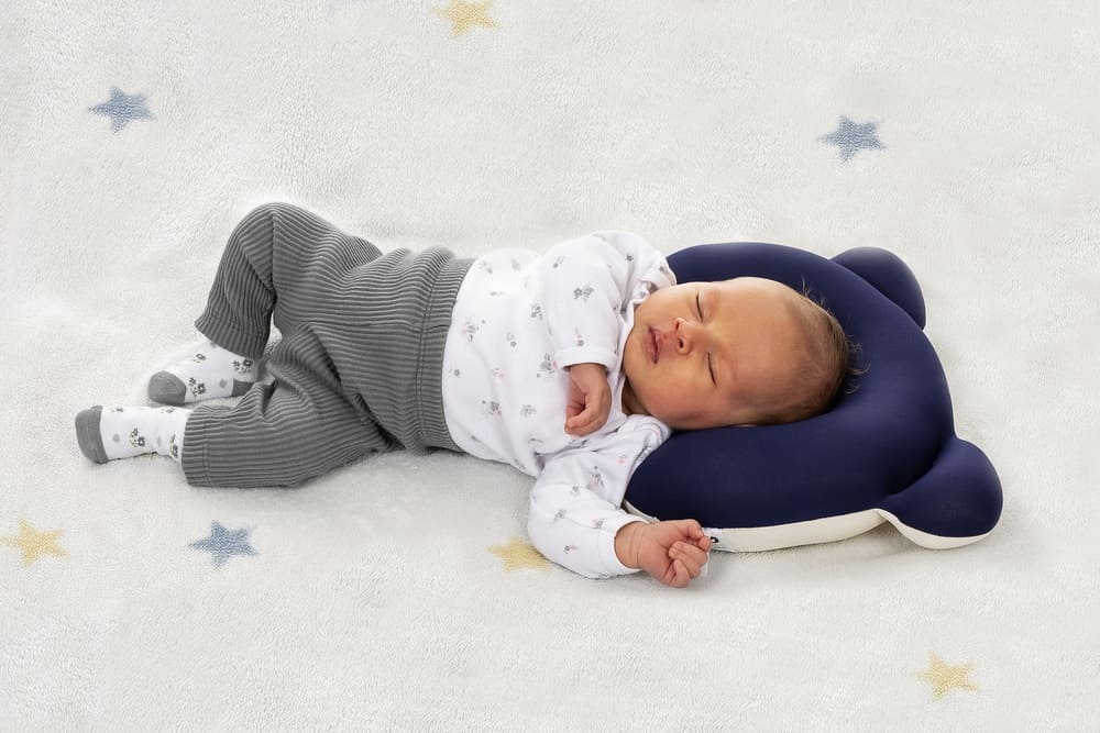 Almofada Ergonômica Para Cabeça Baby Pil Azul  - Encanto Baby