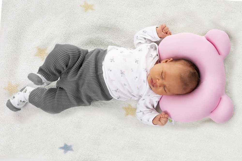 Almofada Ergonômica Para Cabeça Baby Pil Rosa  - Encanto Baby