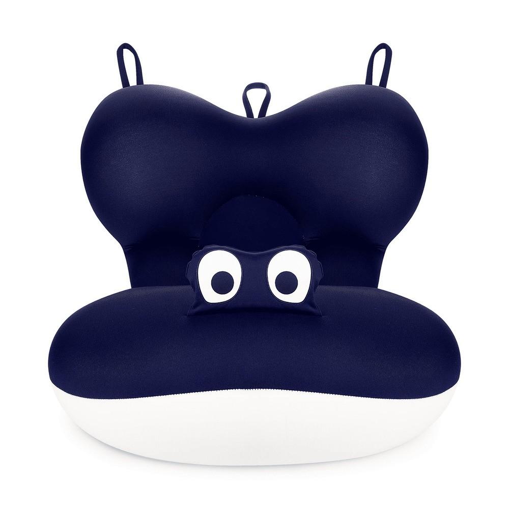 Almofada Para Banho Do Bebê Azul Marinho Com Bege - Baby Pil  - Encanto Baby