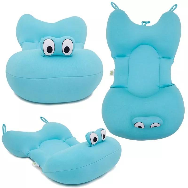 Almofada Para Banho Do Bebê Baby Pil Azul
