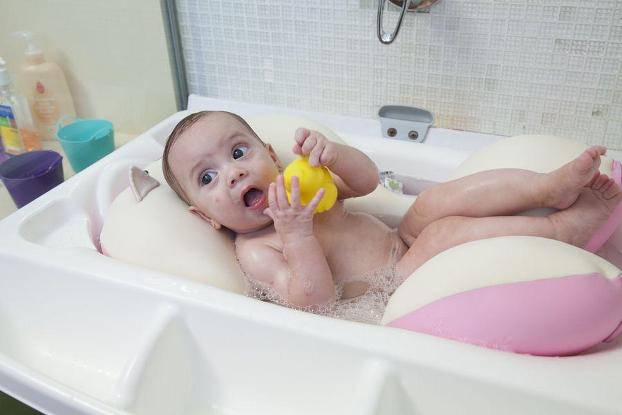 Almofada Para Banho Do Bebê Baby Pil Gatinha  - Encanto Baby