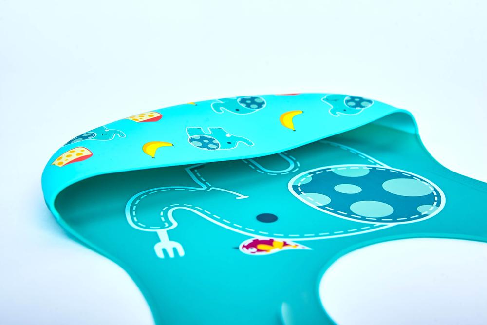 Babador De Silicone Cobertura Total Elefante Marcus & Marcus  - Encanto Baby