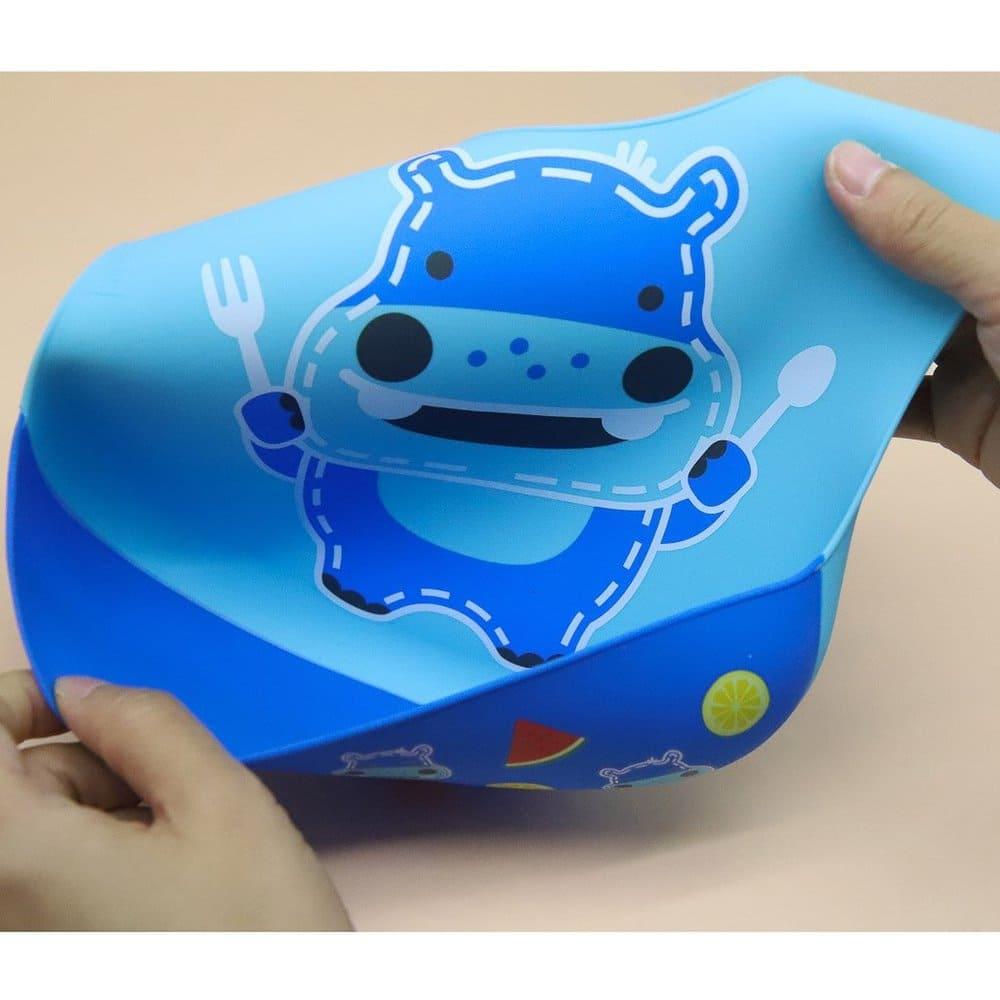 Babador De Silicone Cobertura Total Hipopótamo Marcus & Marcus  - Encanto Baby