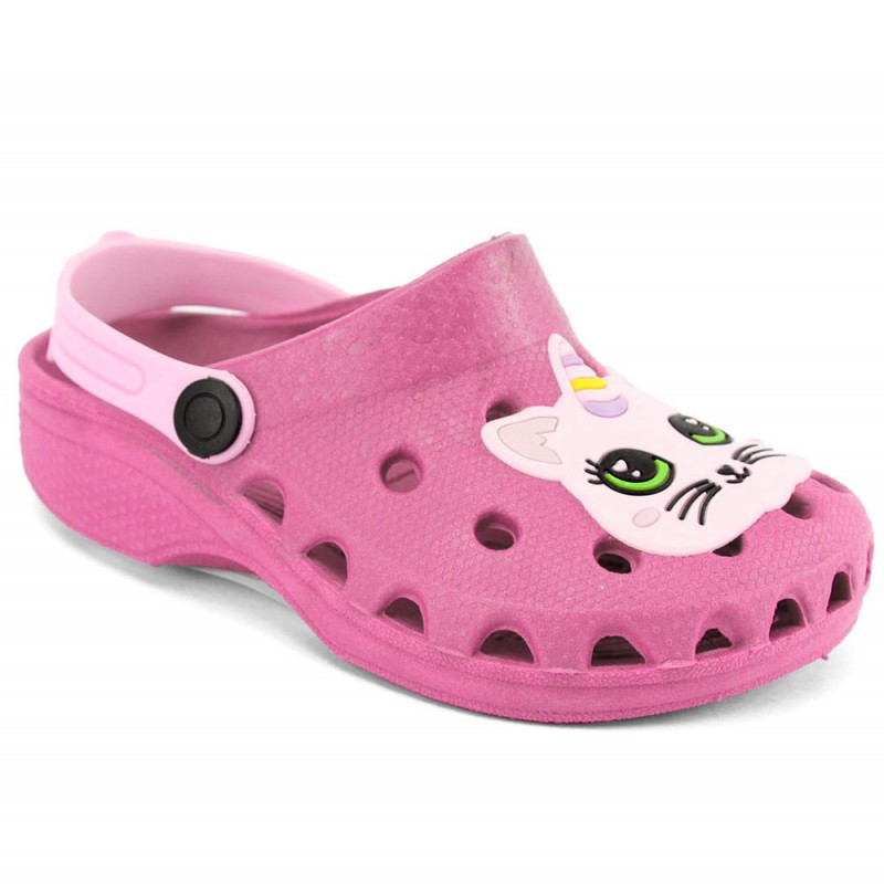 Babuche Infantil Sandália Chinelo Gata Unicórnio Pink