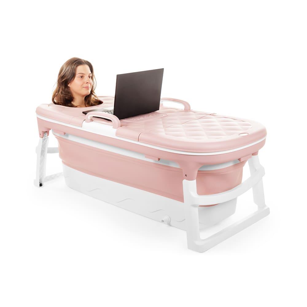 Banheira Desmontável Baby Pil Extra Grande Rosa  - Encanto Baby